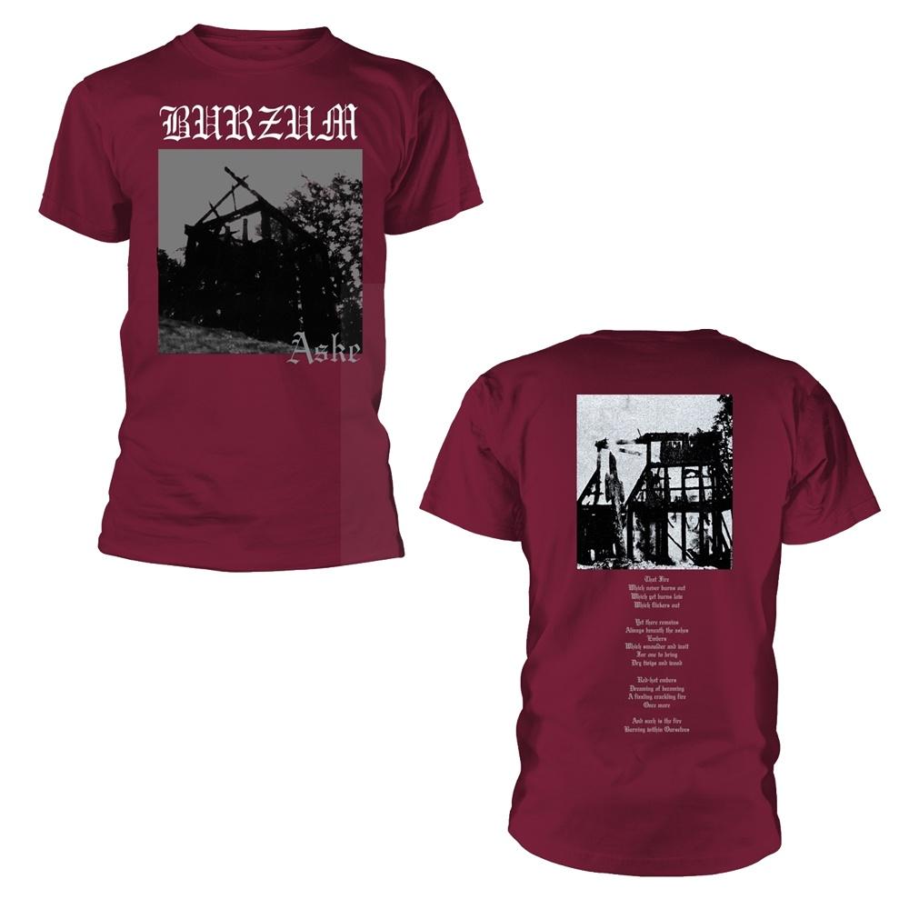 Burzum Aske (Maroon) T Shirt