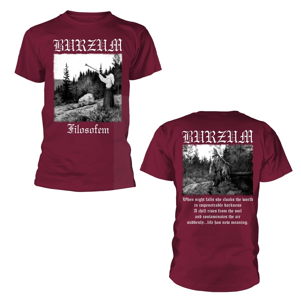 Burzum Filosofem 2018 (Maroon) T Shirt