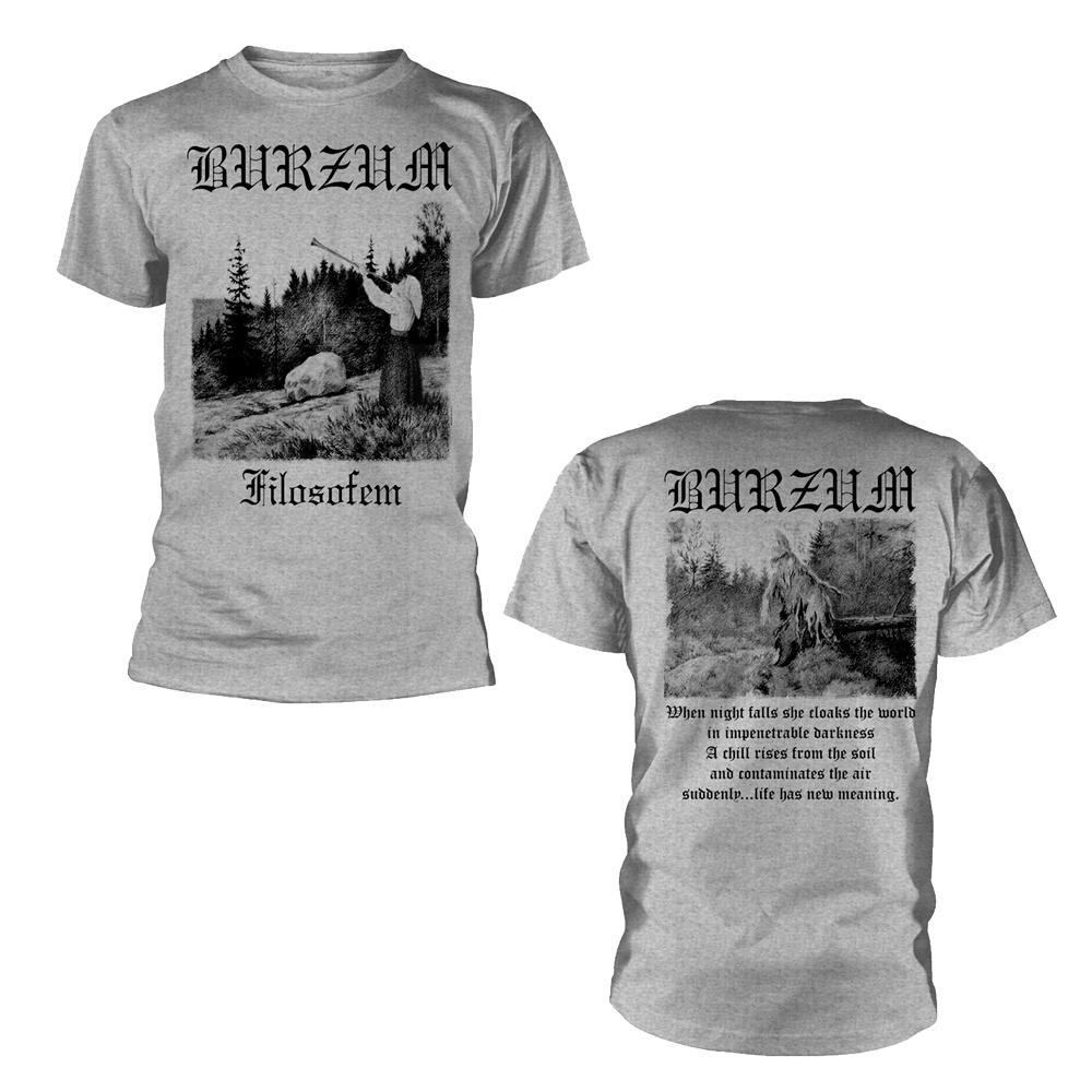 Burzum Filosofem 3 2018 (Grey) T Shirt