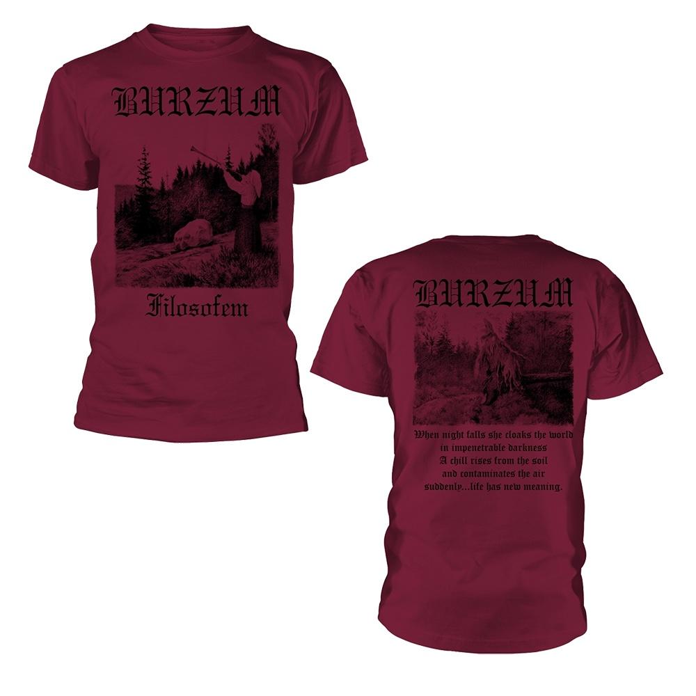 Burzum Filosofem 3 (Maroon) T Shirt