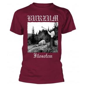 Burzum Filosofem White Print (Maroon) T-Shirt
